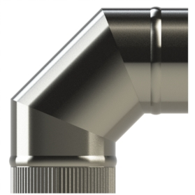 90° Elbow single wall SW316 push fit By Midtherm