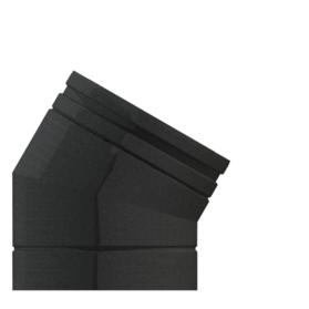 30° Elbow Matt Black Twin wall