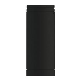 500mm Lengths Matt Black Twin wall