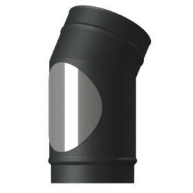 VED 15 Elbow single wall matt black midtherm